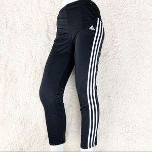 ADIDAS Girl's Black Track Pants Warm-up Joggers